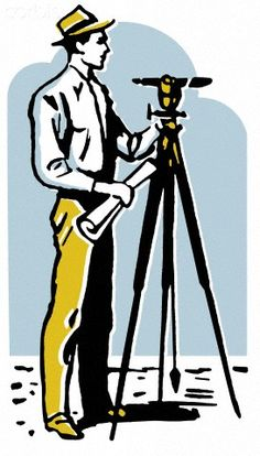 A vintage illustration of a man surveying the land - 42-26214998 - Royalty-Free - Stock Photo - Corbis