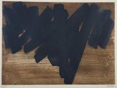 Pierre Soulages, eau-forte N°V, 3 coppers, Lacourière, Paris 1957 Statues, Fine Art Auctions, Black And White Abstract, Art Abstrait, Henri Matisse, Paris, French Artists, Art Google, Installation Art