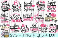 Big Beauty Bundle of 16 svg eps dxf png Files for Cutting Machines Cameo Cricut, Lipstick Mascara, M Circuit Projects, Vinyl Projects, Lathe Projects, Cardmaking And Papercraft, Silhouette Studio Designer Edition, Silhouette Cameo Projects, Cricut Creations, Cricut Design, My Images