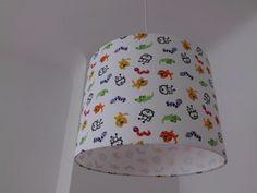 """Lampenschirm 34cm -  """"Krokodil, Katze und Co."""" von XBergLampenschirme auf DaWanda.com"""