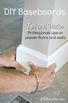 DIY baseboard tutorial with printable cheat sheet of cuts and terms. Shows how t… DIY baseboard tutorial with printable cheat sheet of cuts and terms. Shows how to install your own baseboards with tips and tricks the pros use. Do It Yourself Furniture, Do It Yourself Home, Diy Furniture, Handmade Furniture, Furniture Projects, Bedroom Furniture, Home Improvement Projects, Home Projects, Home Improvements