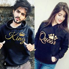 ☆King and Queen! Cute Couple Images, Cute Love Couple, Couples Images, Cute Love Songs, Beautiful Couple, Cute Couples, Couple Pictures, Queen Outfit, Girly Pictures