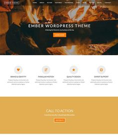 Ember Pro is a powerful parallax WordPress theme that offers a fast and painless way for businesses, organizations, and individuals to create beautiful websites.