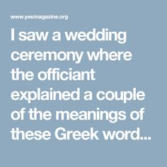 I Saw A Wedding Ceremony Where The Officiant Explained A Couple Of The Meanings Of These