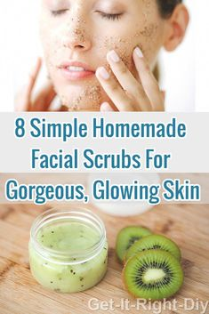 Your skin will definitely happy and thank you for making these all-natural homemade face scrubs, don't wait to make your own #facescrub #diyfacescrub #homemadeskincare #FaceScrubHomemade Diy Face Scrub, Exfoliating Face Scrub, Face Scrub Homemade, Exfoliate Face, Homemade Facials, Homemade Skin Care, Diy Skin Care, Face Cleanser, Organic Skin Care