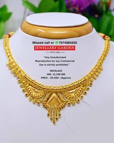 Gold Jewellery Design, Gold Jewelry, Jewelry Necklaces, Gold Necklace Simple, Bridal Bangles, Gold Work, India Jewelry, Gold Fashion, Necklace Designs