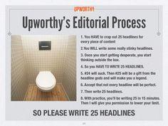 Of het nou om een magazine, krant, blog of titel voor een video of nieuwsbrief gaat, zorg dat het een pakkende titel heeft. Upworthy adviseert zelfs om 25 titels te verzinnen voor je er een uitkiest!