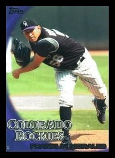 Franklin Morales Rockies Baseball, Colorado Rockies, Mlb, Baseball Cards, Sports, Hs Sports, Sport