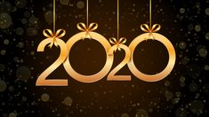 2020 Happy New Year Abstract With Hanging Golden Numbers, Glitter And Bokeh Effect. Happy New Years Eve, Happy New Year 2020, Christmas Wishes, Christmas And New Year, Merry Christmas, New Years Eve Images, Happy New Year Pictures, New Years Eve Decorations, Bokeh Effect