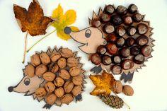 My Home Style - hedgehog, diy hedgehog, autumn kids crafts