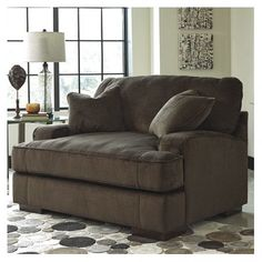 Comfy Oversized Chair And Ottoman Decorating Comfort