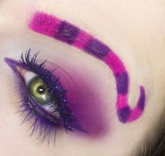 Halloween make up ideas - We love this Cheshire cat eye make up, inspired by Wonderland! Simon Jersey is a supplier of beauty tunics for beauty salons, spas and hairdressing salons www.simonjersey.com