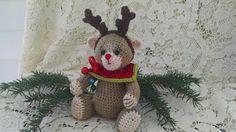 Collectible artist thread crochet teddy bear by SweetHeartThreads, $30.00