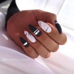 Spring Nail Art Cute Spring Nail Designs Ideas - nails - Welcome Haar Design Feather Nail Designs, Marble Nail Designs, Marble Nail Art, Acrylic Nail Designs, Nail Art Designs, Black Marble Nails, Nails Design, White Marble, Feather Nails