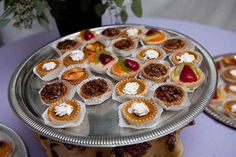 Miniature pies for a fall wedding (charlottegeary) For more great ideas and information about our waterfront venue visit our website www.tidewaterwedding.com or give us a call 443 786 7220