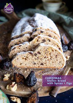 Bread Recipes, Baking Recipes, Cookie Recipes, Dessert Recipes, Desserts, Christmas Stollen Bread Recipe, Dried Fig Recipes, Panettone Bread, German Bread