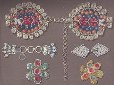 Estella Canziani - Clasps for ceintures (belts) Clasps for aprons. Unique Costumes, Costumes For Women, Folk Costume, B & B, Traditional Dresses, Unique Jewelry, Apron, Belt, Male Costumes