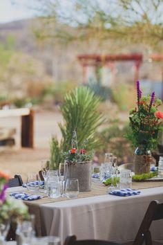 diy succulent wedding centerpieces // Rimrock Ranch in Pioneer Town wedding // Joshua Tree wedding //