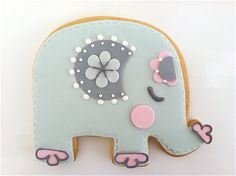 Elephant Cookies for baby shower at bbsweetlove on etsy, 1 dozen. $57  http://www.etsy.com/listing/90185646/baby-elephant-cookie-1-dozen