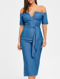 SHARE & Get it FREE   Off The Shoulder Zippered Wide Leg Belted JumpsuitFor Fashion Lovers only:80,000+ Items • New Arrivals Daily • Affordable Casual to Chic for Every Occasion Join Sammydress: Get YOUR $50 NOW!