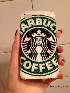 starbucks iphone 5 bling case  iphone bling case by iphone5scase, $19.99