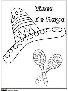 Cinco de Mayo Coloring Page {FREEBIE}