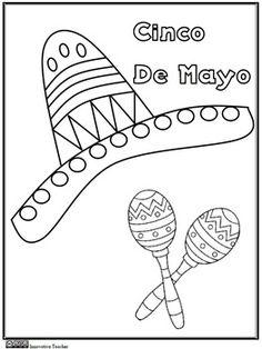 Cinco de Mayo Coloring Page {FREEBIE}