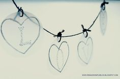 Milk jug garland (for Valentines Day, or any other time) #diy #milkjugs