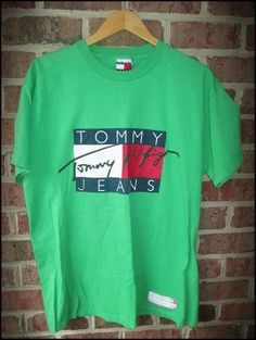 Vintage 90's Tommy Hilfiger Jeans Logo Shirt by CharchaicVintage, $18.00