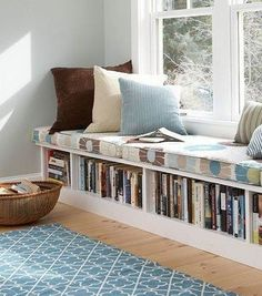 Best Ideas For Storage Bench Seating Bedroom Cabinets How To Clean Furniture, Diy Furniture, Furniture Storage, Books Decor, Diy Bookshelf Design, Bookshelf Ideas, Cheap Bookshelves, Bedroom With Bookshelves, Creative Bookshelves