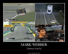 Mark Webber takes air once again at 2012 Chinese Grand Prix.