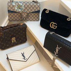Louis Vuitton, Gucci, YSL handbags #designerhandbags #louisvuittonhandbags