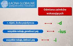 Zaimki wskazujące łacina #infografika #łacina #zaimki #gramatyka http://lacina.globalnie.com.pl/zaimki-wskazujace-lacina/