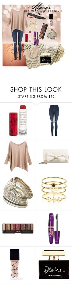 """""""Untitled #204"""" by eliyanakubelis on Polyvore featuring Korres, Laurence Dacade, George, RED Valentino, Miss Selfridge, Accessorize, Rimmel, NARS Cosmetics, Dolce&Gabbana and Love Quotes Scarves"""