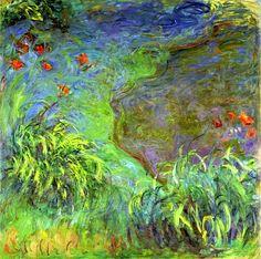 Claude Monet / Hemerocalles au bord de l'eau