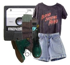 """""""joe"""" by platinum-smoker on Polyvore featuring CASSETTE, Toast, ATG, Dr. Martens, DrMartens, shorts, shirt and socks"""