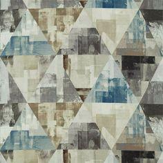 "HARLEQUIN FABRIC REMNANT ""GEODESIC"" 95 X 145 CM LINEN BLEND Fabric Remnants, Fabric Scraps, Harlequin Fabrics, Designers Guild, Fabric Patterns, Digital Prints, Shapes, Quilts, Blanket"