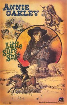 Annie Oakley: Little Sure Shot Poster Movie Jamie Lee Curtis Caricature, Cartoon Posters, Movie Posters, Annie Oakley, Western Comics, Vintage Cowgirl, Cowboy Art, Cowboy Pics, West Art