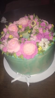 Flores en buttercream