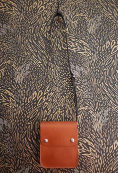 Leather Snap Satchel - Tan