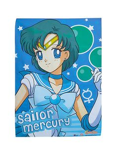 Sailor Moon Sailor Mercury Fabric PosterSailor Moon Sailor Mercury Fabric Poster,