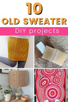 Don't throw out those old sweaters you can repurpose them and make new home decor or a new fashion piece. Learn how to make new things from repurposed sweathers. 11 creaitve old sweater DIY ideas. Upcycling old sweater crafts. Upcycled Home Decor, Diy Home Decor Projects, Fall Home Decor, Repurposed, Hexagon Patchwork, Patchwork Rugs, Diy Wall Decor, Boho Decor, Old Sweater Crafts