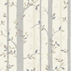 Buy Birchtree Wallpaper Neutral by Arthouse from our Wallpaper range - Cream - @ I Love Wallpaper stock a wide range of wallpaper including an extensive collection of fashionable wallpapers. Quirky Wallpaper, Neutral Wallpaper, Love Wallpaper, Neutral Color Scheme, Color Schemes, Tree Leaves, The Great Outdoors, Home Art, Contemporary