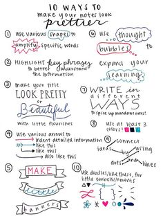 10 ways to make your notes look prettier.