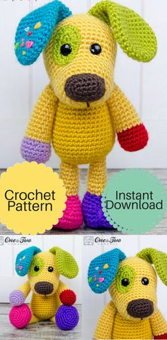 Puppy Amigurumi - PDF Crochet Pattern - Instant Download - Doll great for a baby gift #Affiliate