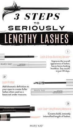 Show off your long, bold eyelashes with a little wink. Try these three easy steps to get lashes that turn heads. | Mary Kay