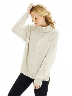Oversize raglansweater Pullover, Elegant, Knitting, Sweaters, Cotton, Design, Fashion, Threading, Model