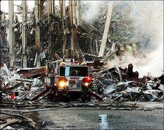 NYFD truck at ground zero 9/11.