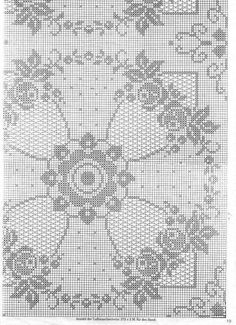 Large White Square Vintage Filet Crochet Lace Doily or Small Table Runner. Filet Crochet Charts, Crochet Doily Patterns, Crochet Squares, Crochet Designs, Crochet Doilies, Crochet Yarn, Crochet Stitches, Cross Stitch Fabric, Cross Stitch Embroidery