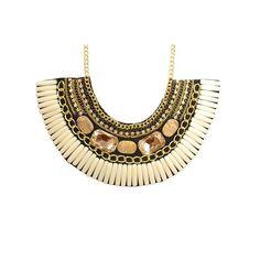 Etnico #maxi #bijoux @necklace http://www.lojafabianasilva.com.br/660-colar-chaton-e-resina-nude.html